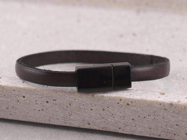 Lederarmband Nici mit Black Edition Magnet Farbe dunkelbraun