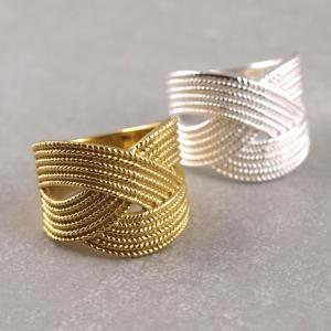 Ring in Flechtoptik Silber